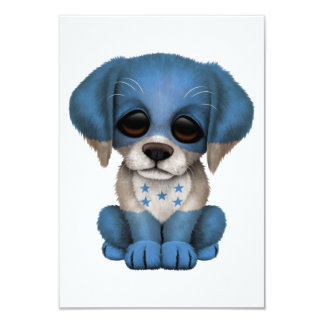 Cute Patriotic Honduran Flag Puppy Dog Custom Invite