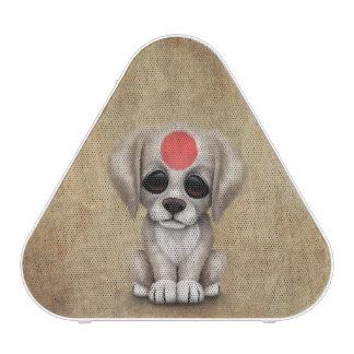 Cute Patriotic Japanese Flag Puppy Dog Rough Speaker