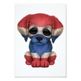 Cute Patriotic Thai Flag Puppy Dog Invites
