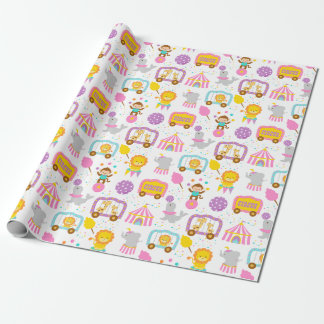 Cute Pattern Pink Circus Carnival Characters
