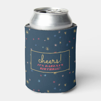 Cute Pattern Preppy Modern Birthday Can Cooler