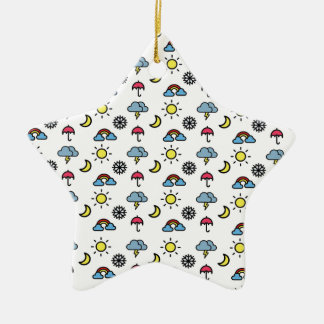 cute pattern weather ceramic star decoration