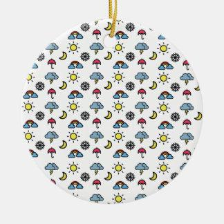 cute pattern weather round ceramic decoration