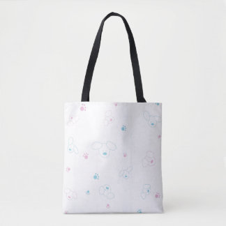 Cute pattern with dogs tote bag