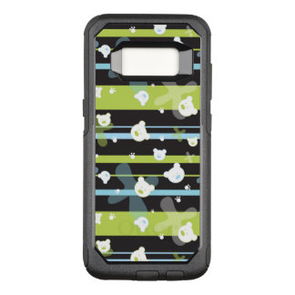 Cute pattern with little bears OtterBox commuter samsung galaxy s8 case