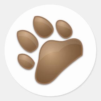 cute paw print classic round sticker