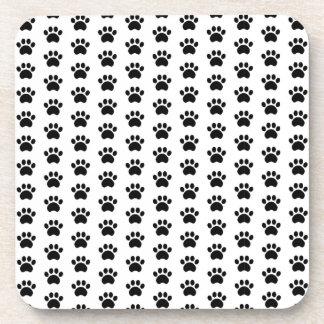 Cute Paw Print Pattern Coaster