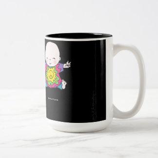 Cute Peace Baby Hippie / Hippy Tie Dye Two-Tone Mug