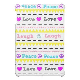 Cute Peace Love Laugh iPad mini Case