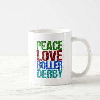 Cute Peace Love Roller Derby Coffee Mug