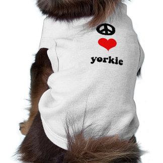 Cute peace love Yorkie Shirt