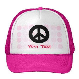 Cute Peace Sign Mesh Hats