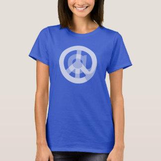 Cute @ Peace Sign Social Media Marketing Blogger T-Shirt