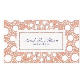 Cute Peach Beauty Business Cards