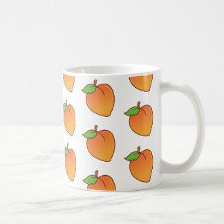 Cute Peach Pattern Coffee Mug
