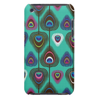 cute peacock feather pattern iPod Case-Mate case