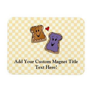Cute Peanut Butter and Jelly Best Friends Vinyl Magnet
