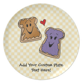 Cute Peanut Butter and Jelly Best Friends Plate