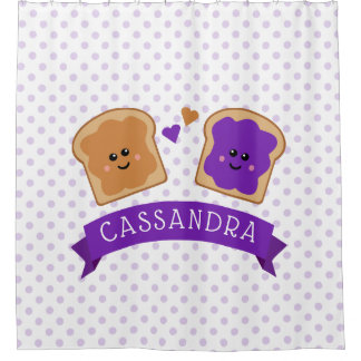 Cute Peanut Butter and Jelly Shower Curtain