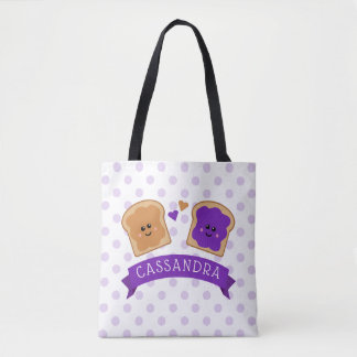 Cute Peanut Butter and Jelly Tote Bag