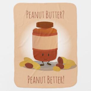 Cute Peanut Butter Jar | Baby Blanket