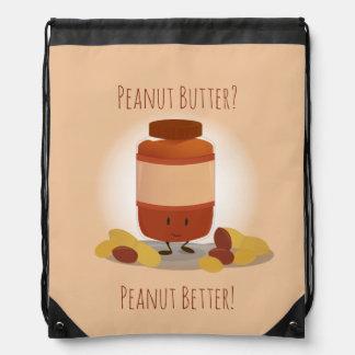 Cute Peanut Butter Jar | Drawstring Backpack