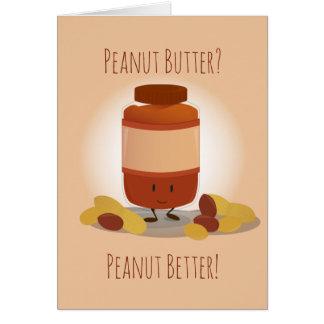 Cute Peanut Butter Jar | Greeting Card