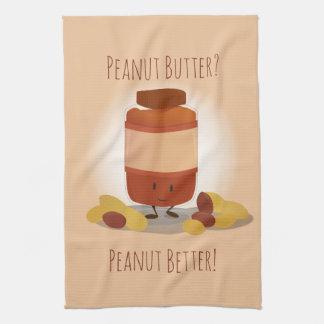 Cute Peanut Butter Jar   Kitchen Towel