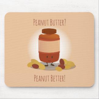 Cute Peanut Butter Jar   Mousepad