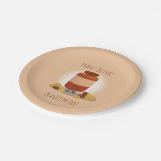 Cute Peanut Butter Jar | Paper Plate