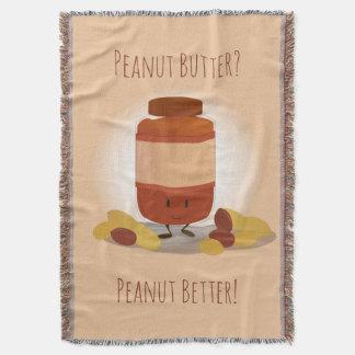 Cute Peanut Butter Jar | Throw Blanket