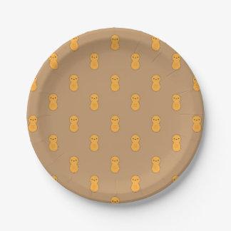 Cute Peanut Pattern Paper Plate
