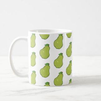 Cute Pear Pattern Coffee Mug