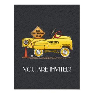 Cute Peddle Truck Peddle Car 11 Cm X 14 Cm Invitation Card