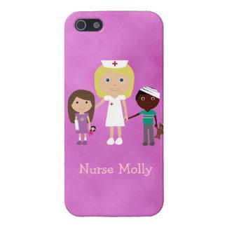 Cute Pediatric Nurse & Children Purple iPhone 5 Cover