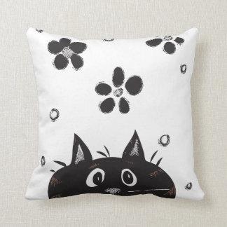 Cute Peek A Boo Cat Throw Pillow