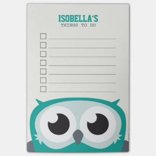Cute Peekaboo Owl To Do List Post It Notes