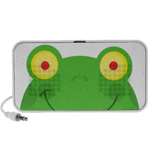 cute peeking cartoon frog froggy face mini speakers