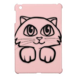 Cute Peeking Kitten Pink iPad Case
