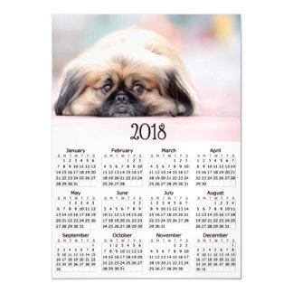 Cute Pekingese 2018 Calendar Magnetic Photo Card