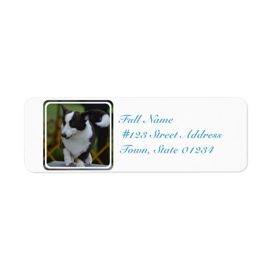 Cute Pembroke Corgi Dog Return Address Label