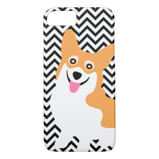 Cute Pembroke Welsh Corgi Puppy Chevron iPhone 7 Case
