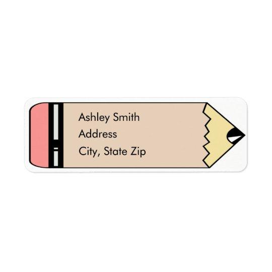 Cute Pencil Return Address Labels