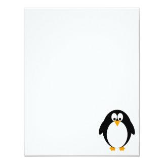 Cute Penguin 11 Cm X 14 Cm Invitation Card