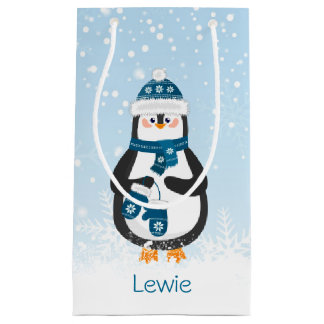 Cute Penguin babay's 1st Christmas Small Gift Bag