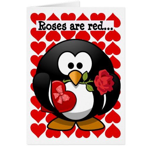 Cute Penguin Best Friend Valentine Greeting Card Card