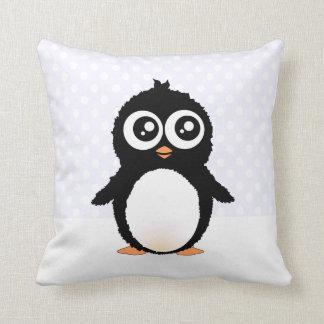 Cute penguin cartoon throw pillow