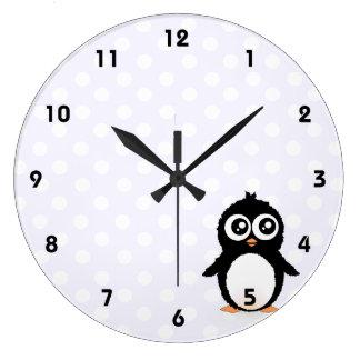 Cute penguin cartoon wall clocks