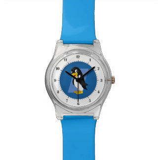 Cute penguin cartoon watch