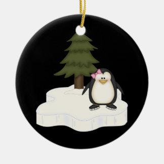 Cute Penguin Ceramic Ornament